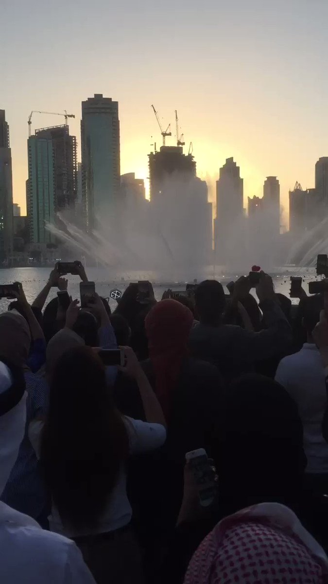 Here's the moment fans have been waiting for: The #DubaiFountain playing #Power by @weareoneEXO! #EXOPowerDubai