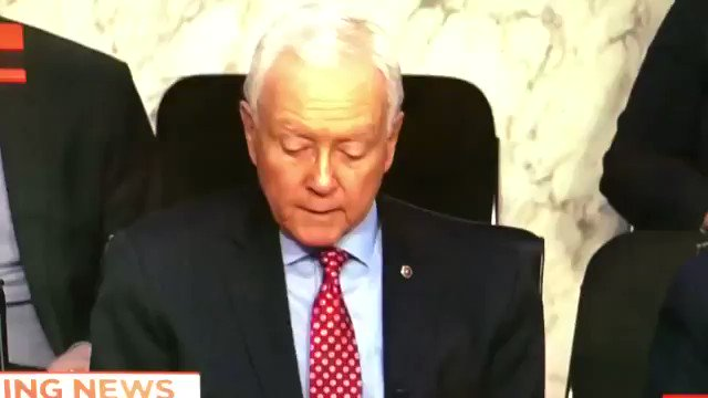 WATCH: Sen. Orrin Hatch removes a pair o...