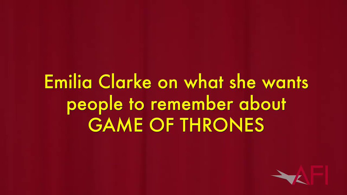 What does @emiliaclarke want people to r...