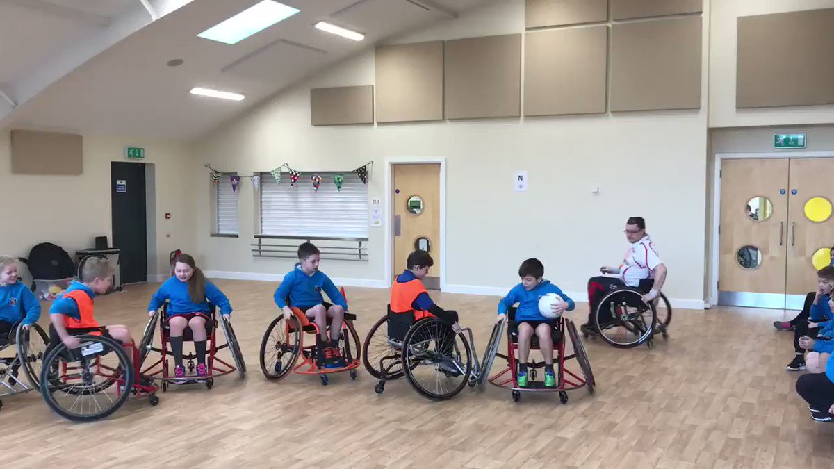 Pickmere are the first class up to try Wheelchair Rugby @England7sWRU 🏉🏉🏉  @ChesterSSP  @YouthSportTrust