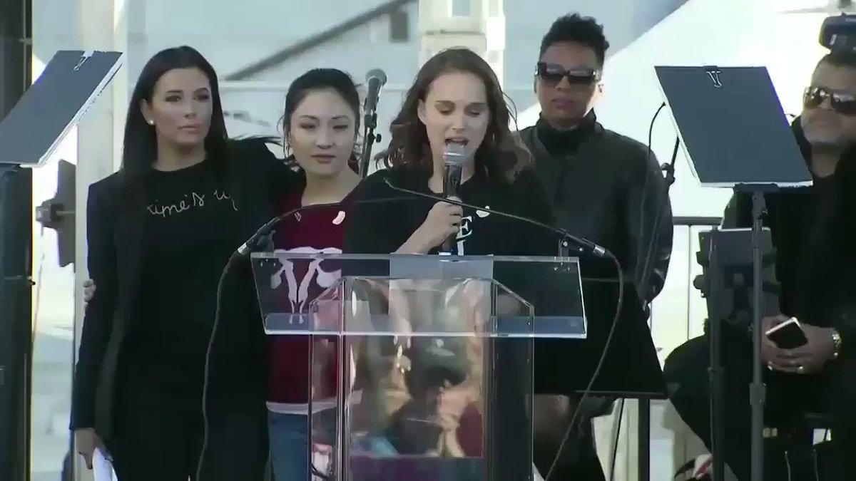 RT @portmanupdates: Natalie Portman's speech at the #WomensMarch2018 https://t.co/sYtv3uQsNx