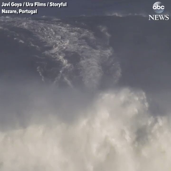 RT @ABC: HANG TEN: Surfer rides humongous wave off the coast of Portugal. https://t.co/LLRy0kU2Kx https://t.co/YluWtBUPE3