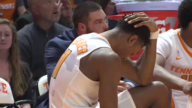 Kyle's emotions in the last minute represented everybody inside TBA. #stressed #hyped @wvlt @Vol_Hoops