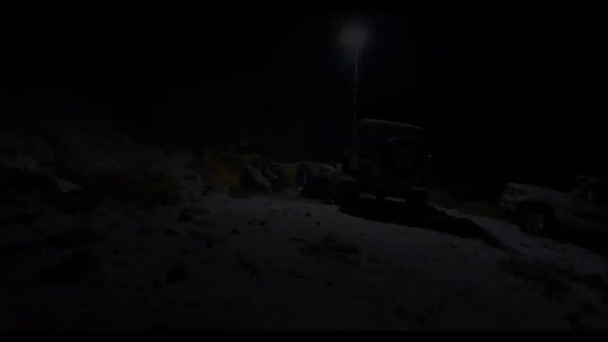 #فيديو توثيقي #ثلوج #جبل_اللوز في منطقة...