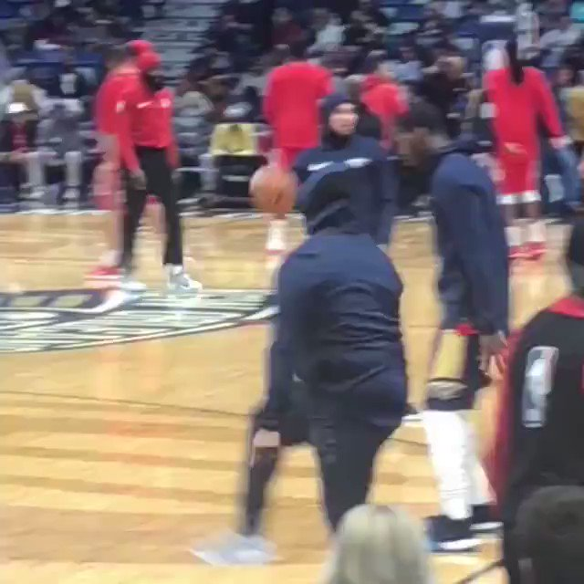 Never forget when a Pelicans fan dressed up in the team warmups and went on the court to get a few shots in