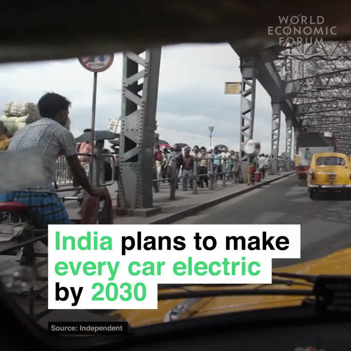 India is planning to make every car electric by 2030 http://wef.ch/2pSwOiD