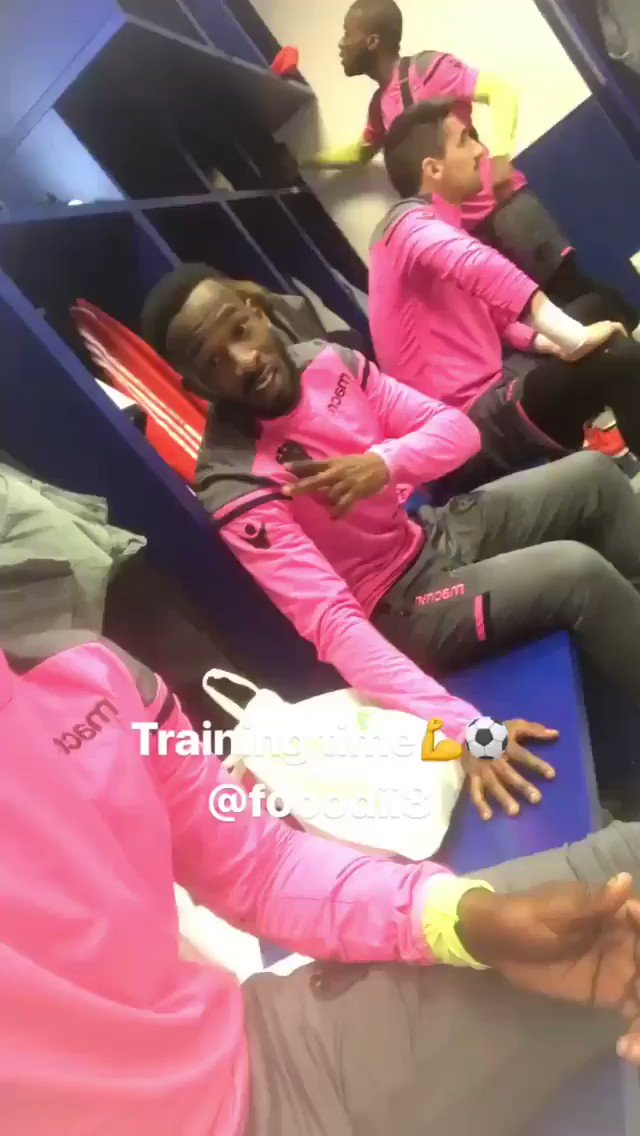 Training time!! 💪⚽️ 📽 Story by Boateng h...
