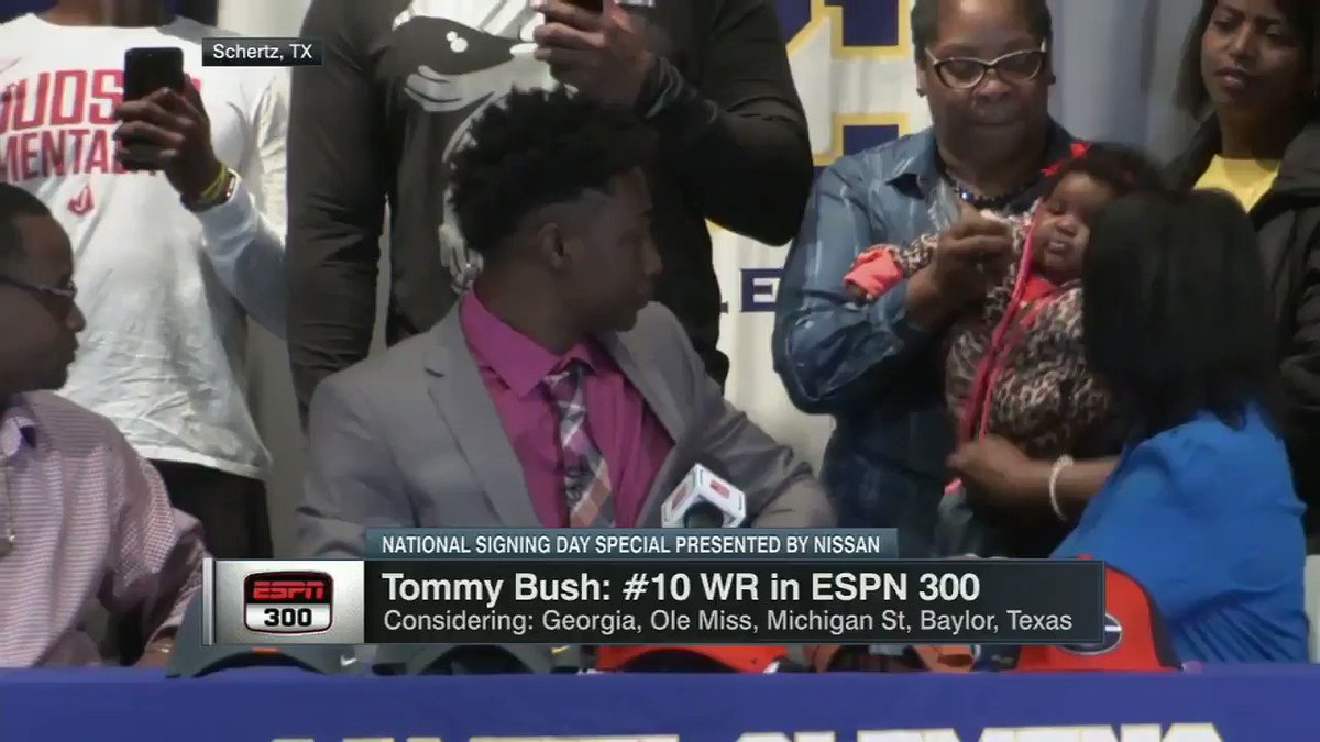 Four-star WR Tommy Bush signed with Georgia ...  ... but not everyone was happy about it.