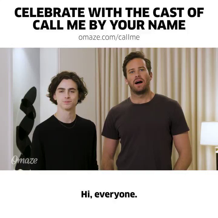 Please consider supporting @TrevorProject and @TheAIDSMonument. You could win a trip to celebrate with the Call Me By Your Name gang at SPCs pre-Oscar party. Donations to win benefit two incredible causes, enter HERE: bit.ly/Timothée-Armie…