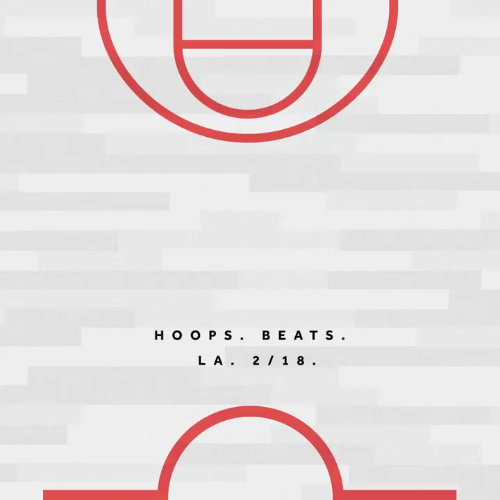 Hoops. Beats. LA. 2/18. The exclusive All-Star party for everyone. Register at https://t.co/t2GXUJQouP https://t.co/RxxHblQOxR