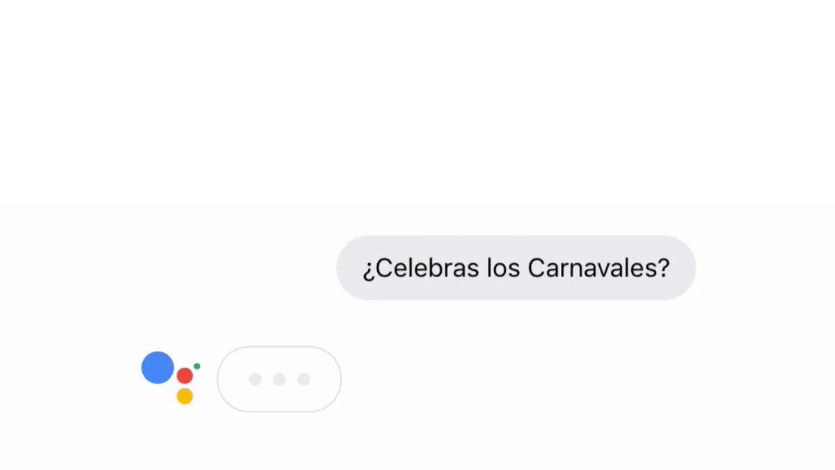 🎭 ¿Tenéis ya todo listo para Carnaval?🎭 ¡#AsistenteDeGoogle también se está preparando! → assistant.google.com/intl/es_es
