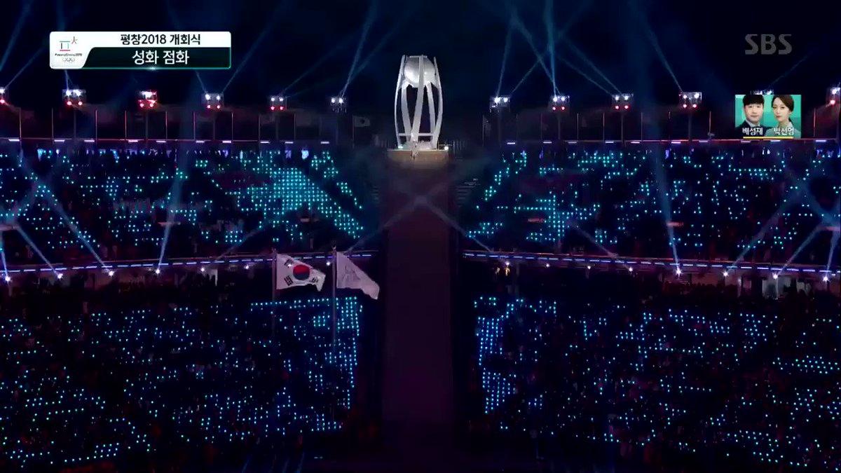 2e958e8e089b Winter Olympics opening ceremony  Koreans enter under unified flag ...