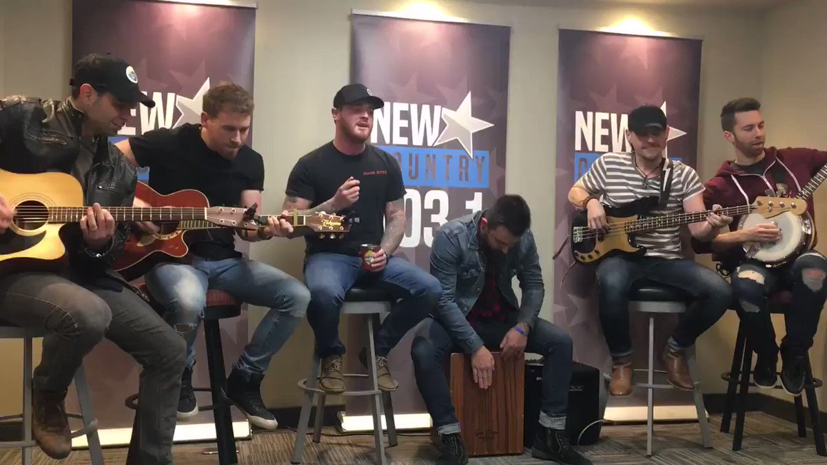 .@coldcreekcounty playing some tunes at @newcountry1031!  #Kamloops