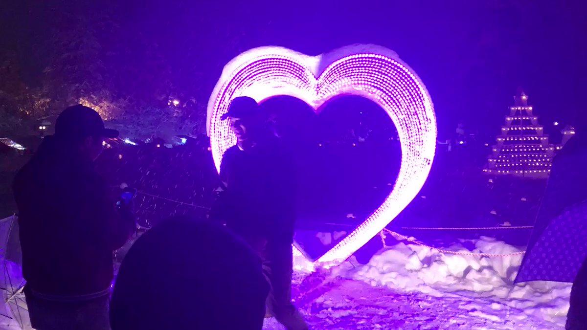 #上杉雪灯籠まつり 。人気のインスタ映えスポット。今日も素晴らしいお祭りでした。 #snow #雪 #近いよ米沢