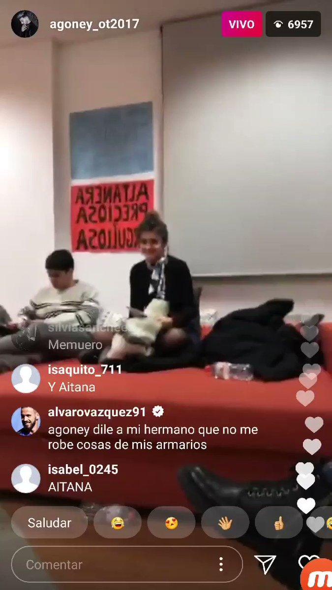 Amaia y Alfred en el directo de Agoney #...