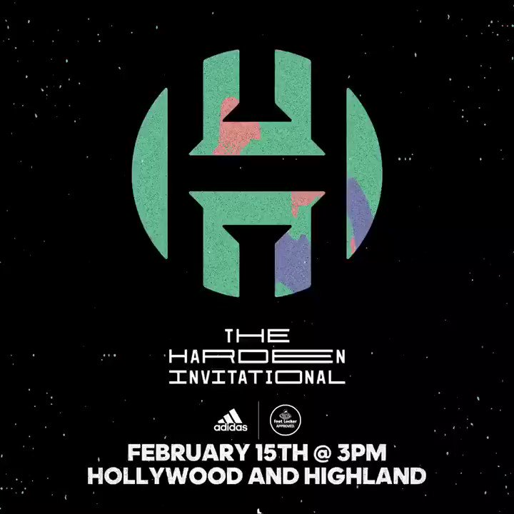 Pull up!!! To the @footlocker & @adidasHoops @ Hollywood & Highland on Thursday for the Harden invitational...