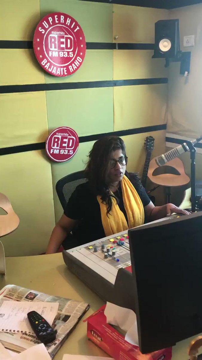 Coming up @ShirleySetia and @DJChetas on @RedFM_Mumbai now #WorldRadioDay