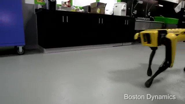 """ボストンダイナミクス社の """" 機械同士で助け合う光景 """" これが可愛い事なのか恐ろしい事なのか..."""