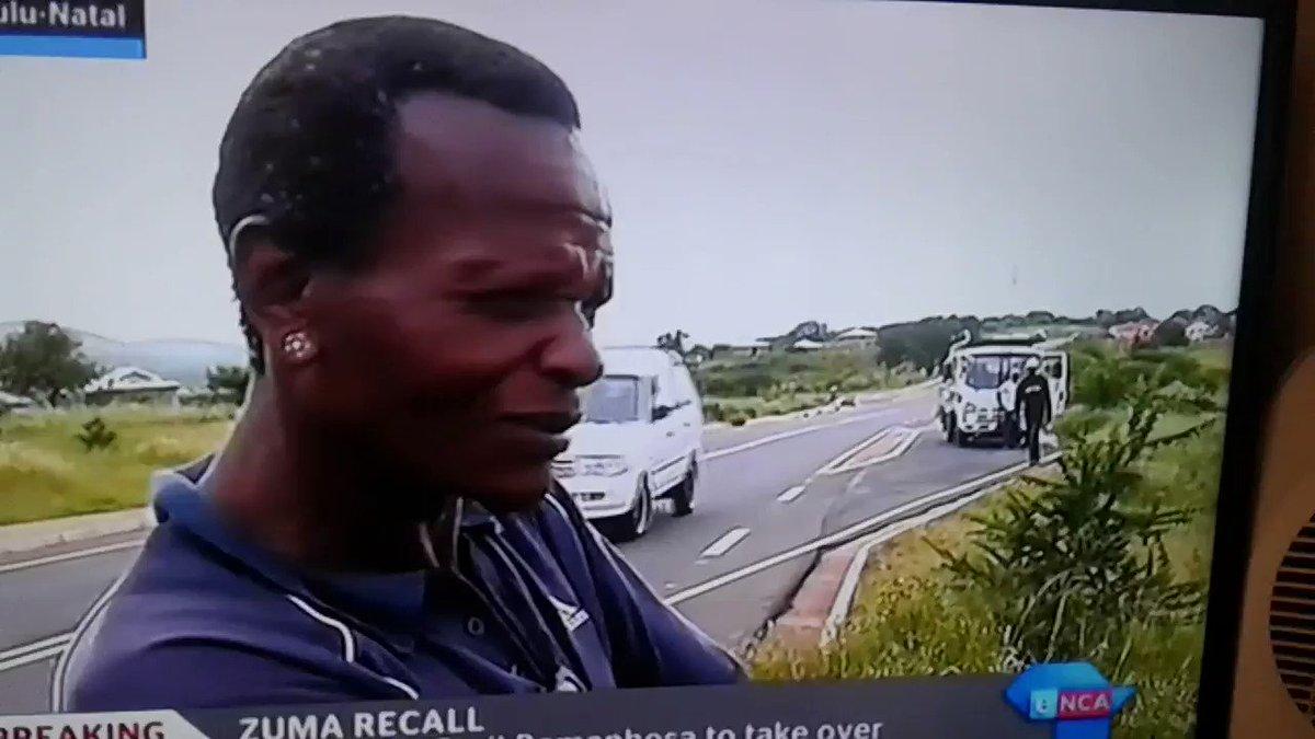 When you visit #Nkandla & everyone is heartbroken following #ZumaRecall #ZumaExit #ANCNEC. Only in SA, courtesy of ENCA