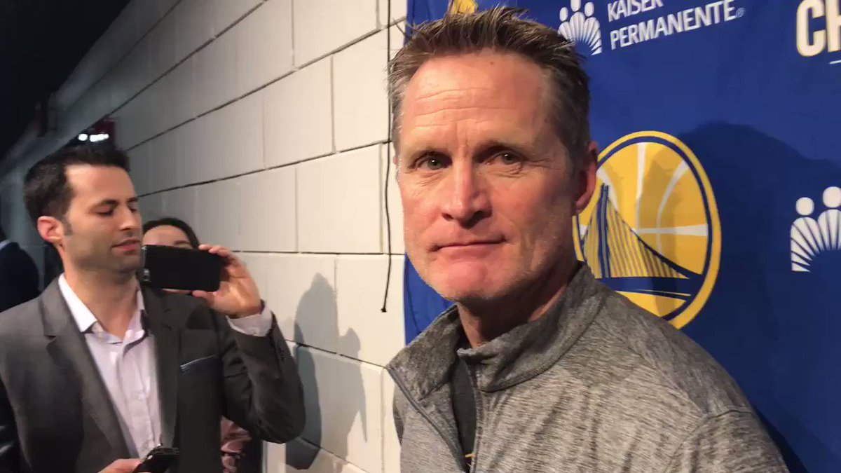 Steve Kerr's powerful message on the shooting massacre in Florida.