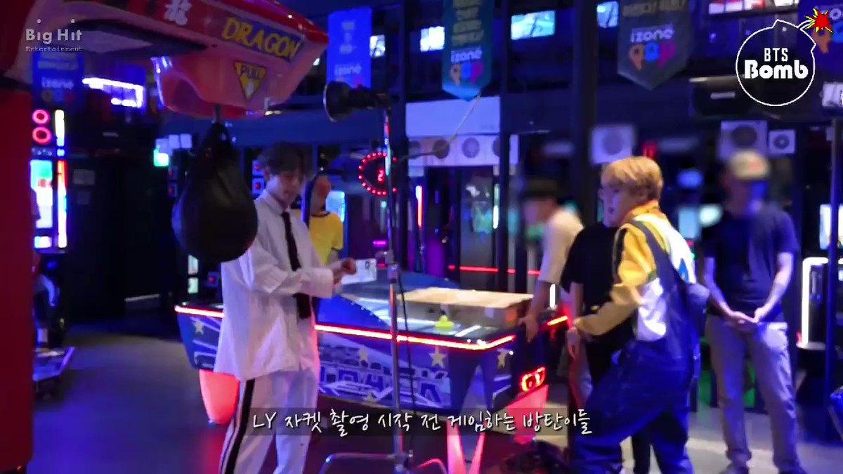 Vmin playing the punching game kekek  ht...