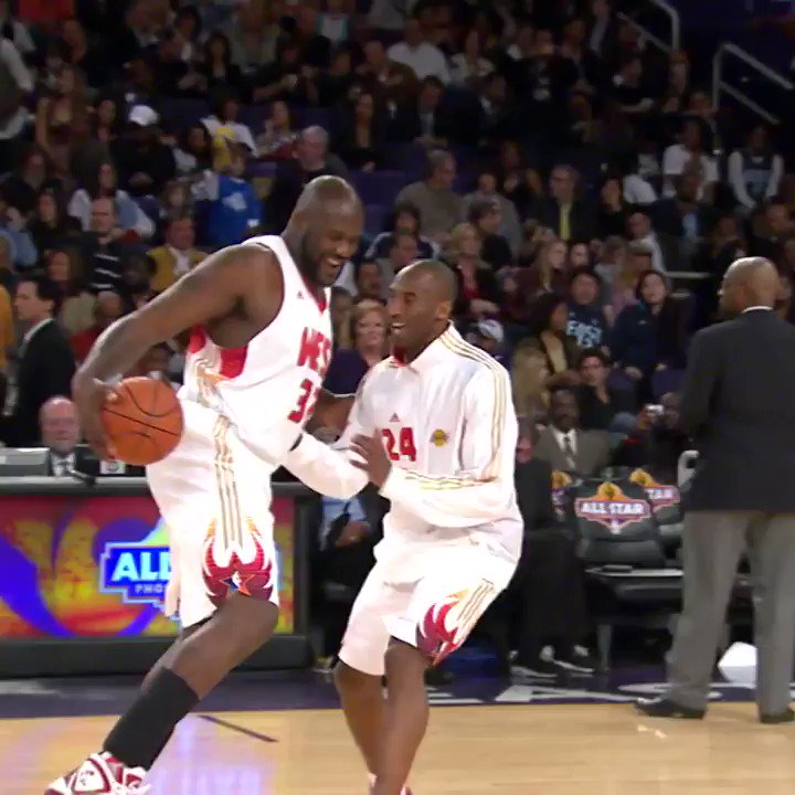 Throwback to Shaq and Kobe reuniting on...