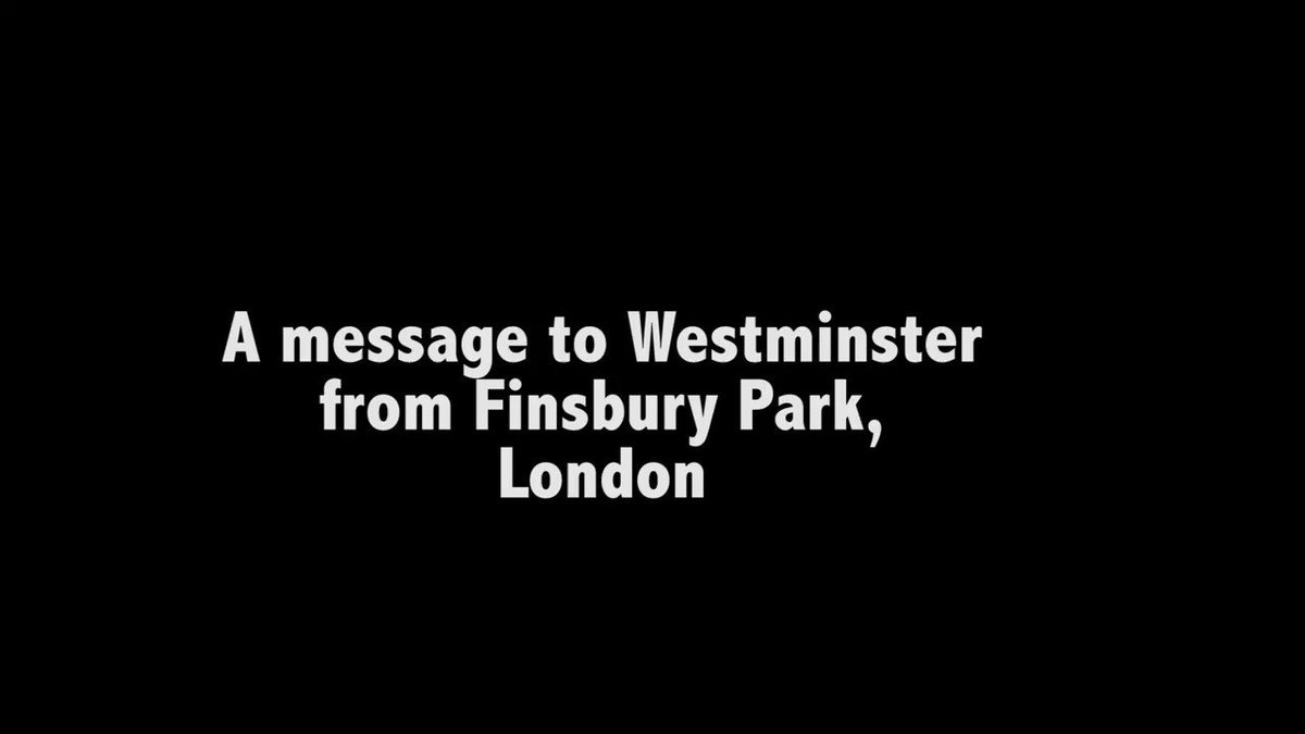 A message to Westminster, from Finsbury...