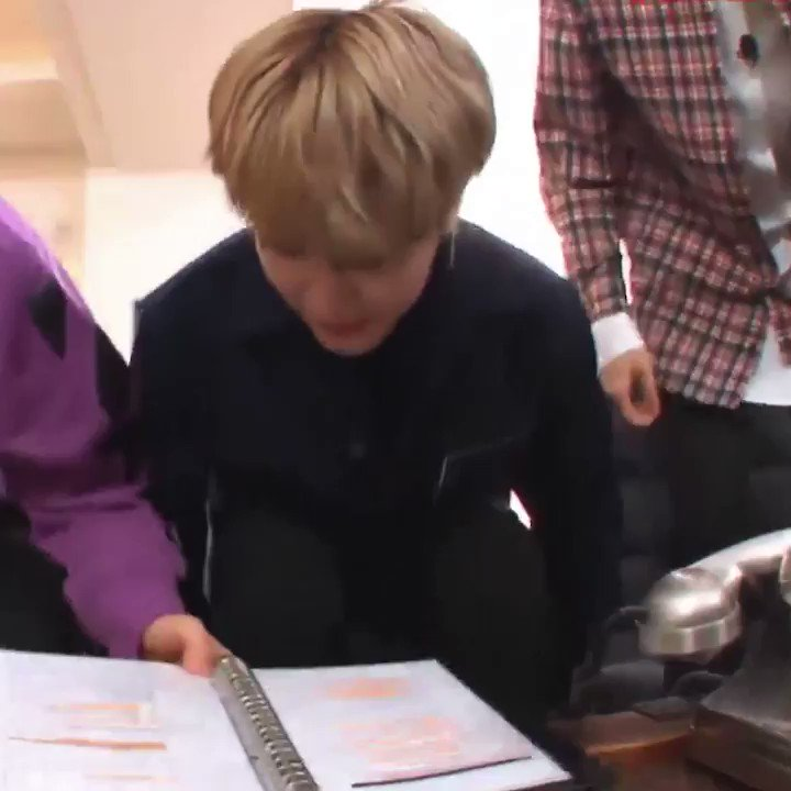 jimin almost fell off the chair omg so c...