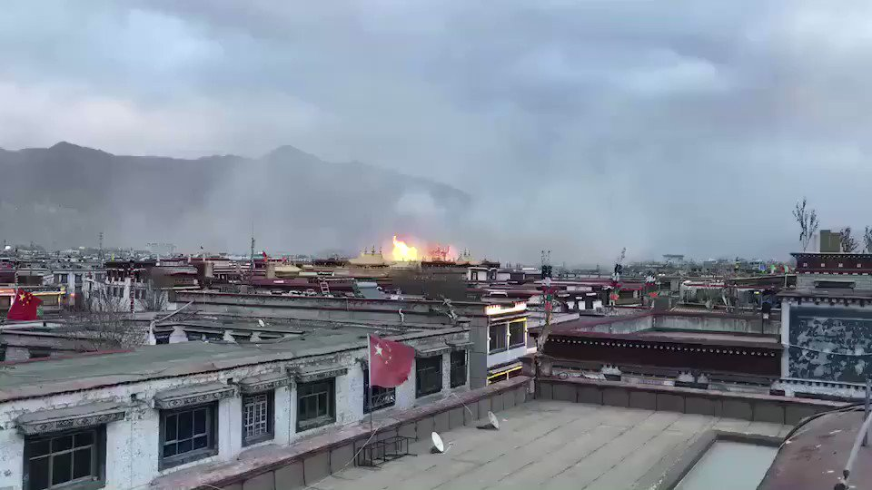 Sacred Tibetan monastery in Lhasa hit by fire