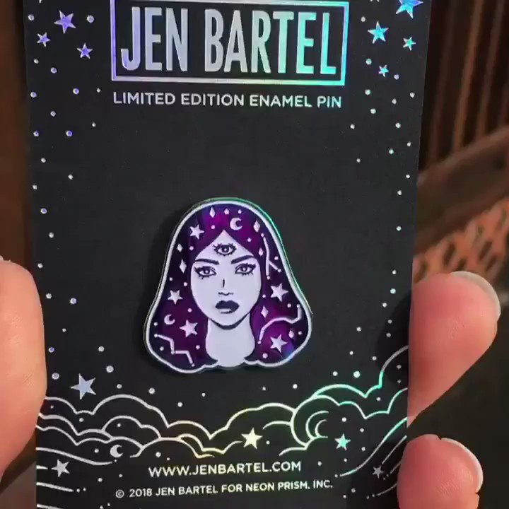 Cosmic 🌟 New for 2018! Enamel pin debuting at ECCC, available at