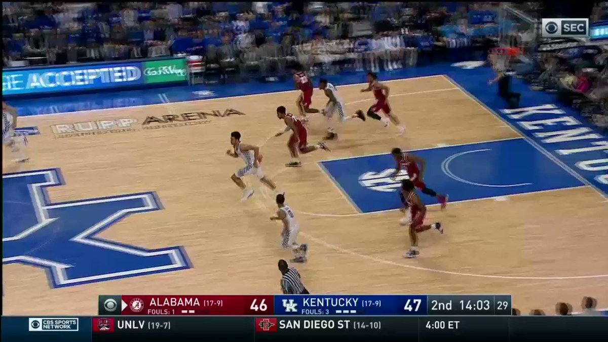WATCH YOUR HEAD!  @AlabamaMBB connects o...