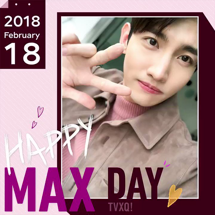 #HappyMAXDay 🎂🎉 #180218 #TVXQ #MAX https...