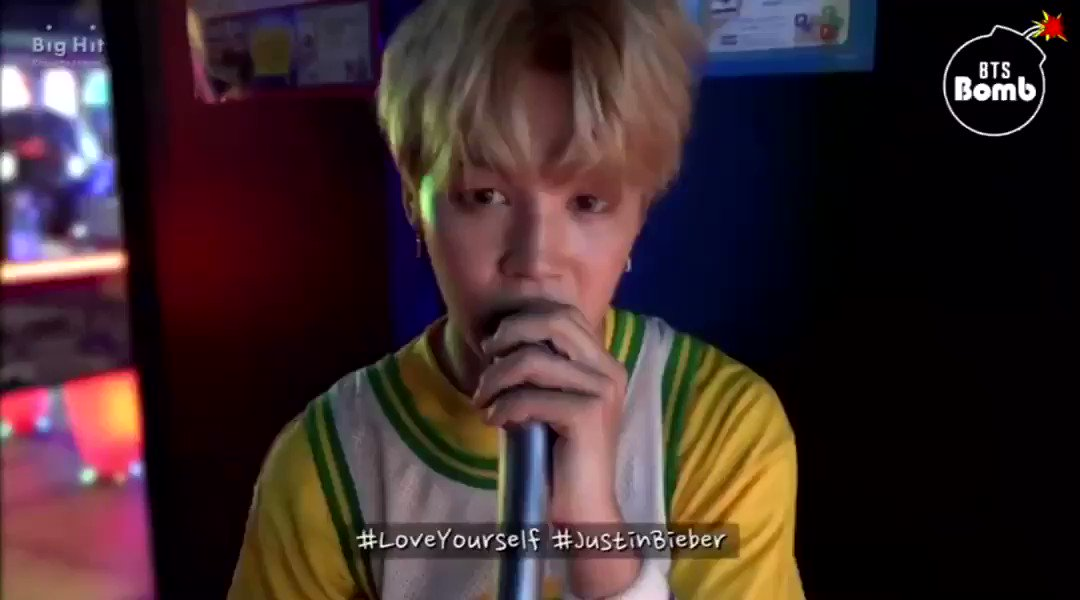 jimin singing love yourself!!! that last...