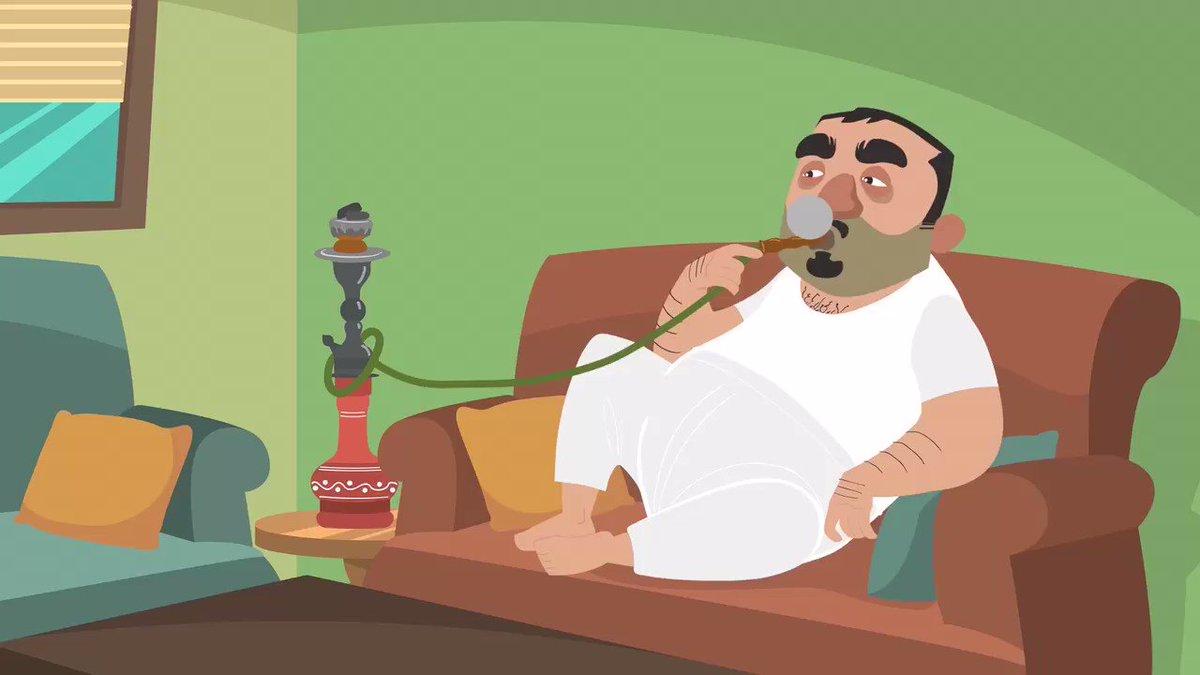أبو محمد: تدخن ؟ أبو خالد: لا لا مالي في...