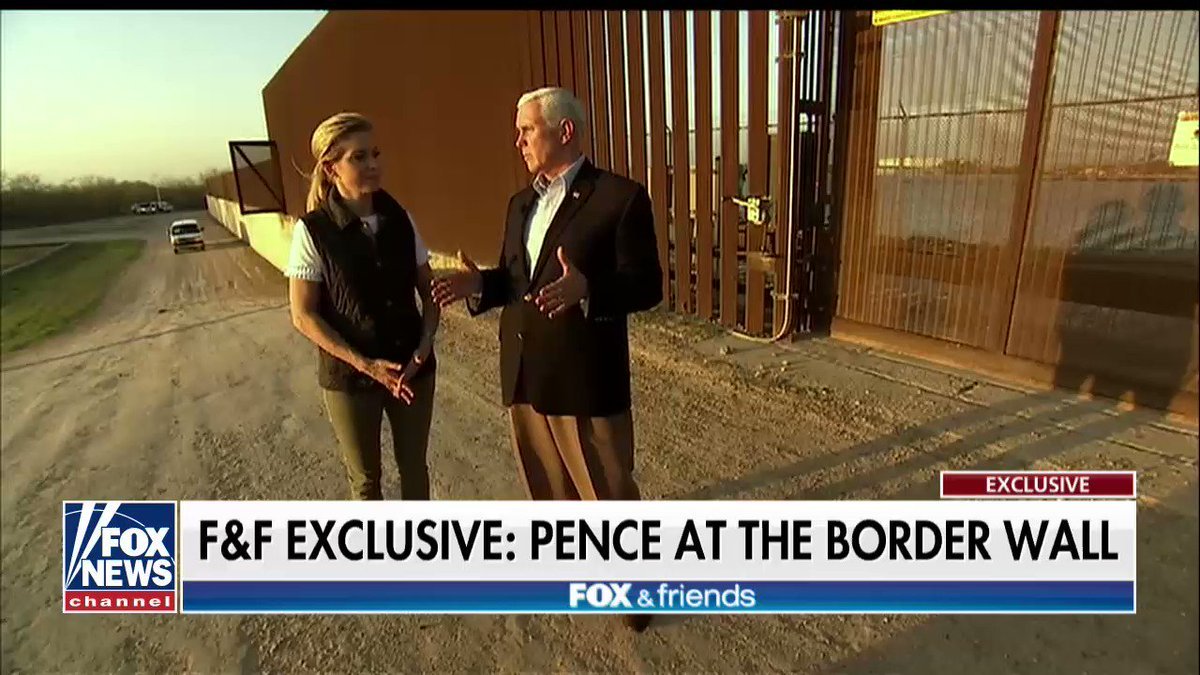 """.@VP: """"The president is absolutely committed… to work with the Republicans in the House and the Senate, to work with Democrats in the House and the Senate and find a way to build this wall and to solve the DACA problem and reform our immigration system."""""""