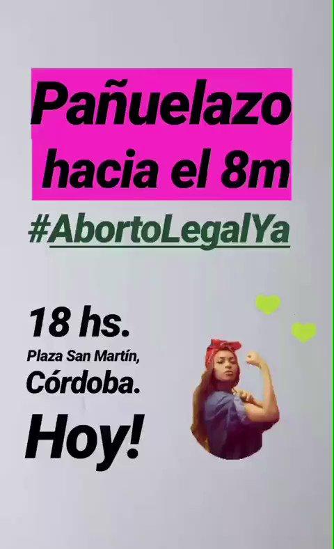 #AbortoLegalYa hoy en cordoba https://t....
