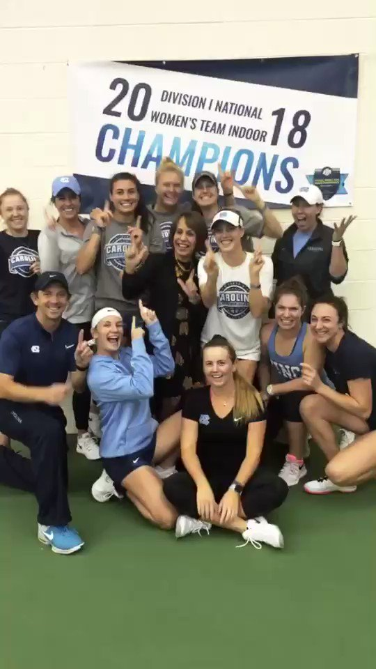 Celebrating the hard work & great win of our National Champions – congrats @UNC_wtennis! https://t.co/gqV4zMwq3a