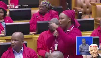#SONA18 #SONADebate #SoNAReply #ZumaResigns Should the @EFFSouthAfrica win the 2019 elections she should be the minister of Mining coz she is really digging in there @Julius_S_Malema 😂😂😂