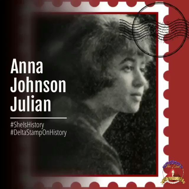Anna Johnson Julian, who earned her B.A., A.M., and Ph.D. at Penn, was the first black woman to earn Phi Beta Kappa at Penn and be awarded Penn's Ph.D. in Sociology.  *not part of US Postal series*  #BHM  #SheIsHistory #DeltaStampOnHistory #DeltaHeritage  #DST05  #DST1913