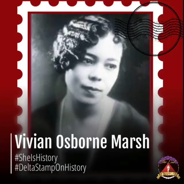 Vivian Osborne Marsh became one of the most influential African Americans in the San Francisco area... more on https://t.co/lKEQdEeuvs *not part of USPostal series* #PresidentsWeek🔺 #BlackHistoryMonth✊🏾 #SheIsHistory #DeltaStampOnHistory #DSTHeritage #DST105 #DST1913