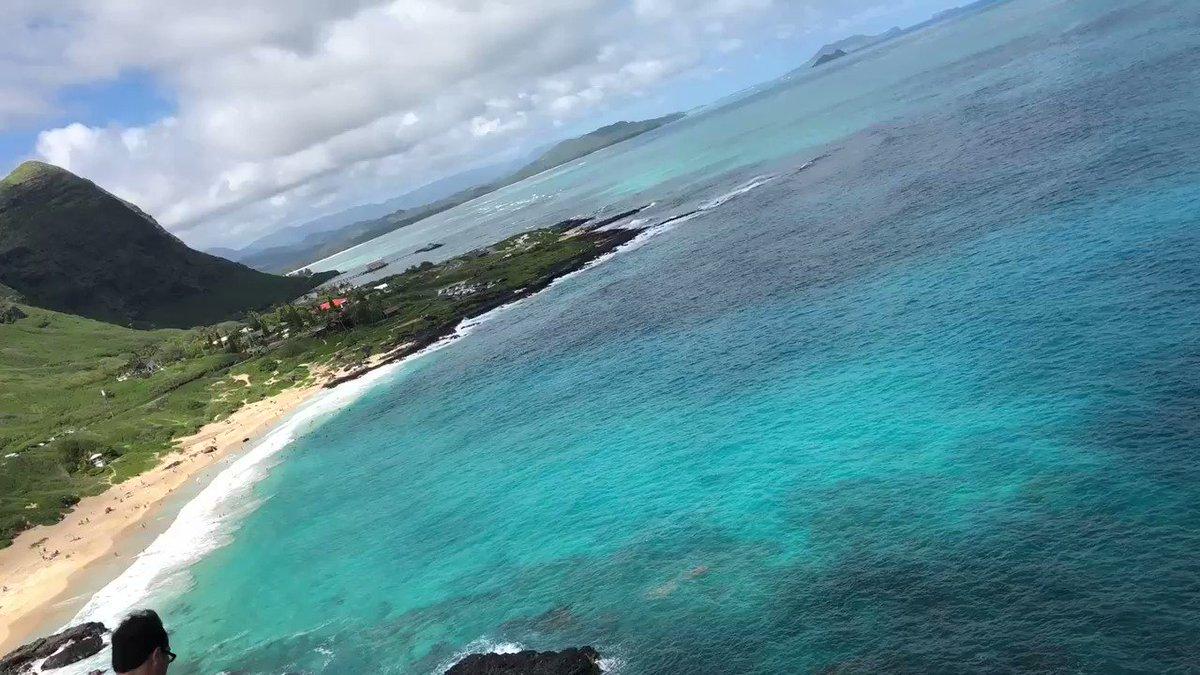 日本着いたのでお土産にハワイの絶景載せます! 皆のお陰で快晴になりましたよ!いっぱいちゅき!