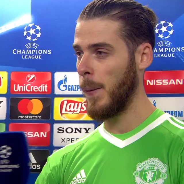 De Gea talks about THAT first-half stop from Muriel 👊  Have you seen a better save in the #UCL this season?