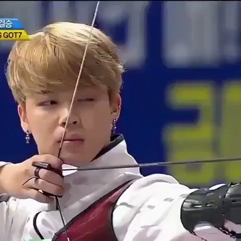 jimin's face jiggling when he fired the...