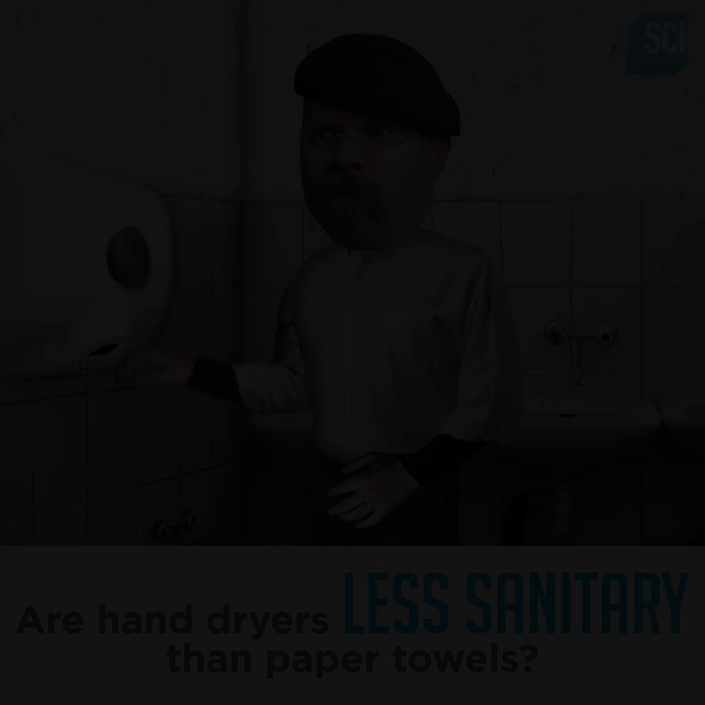 Mythbusters On Twitter Hand Dryer Or Paper Towel Which Is More Sanitary In A Public Bathroom We Have The Definitive Answer Miss It