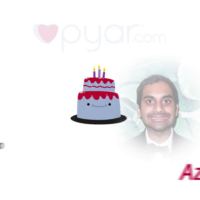 Happy birthday Aziz Ansari!   - By