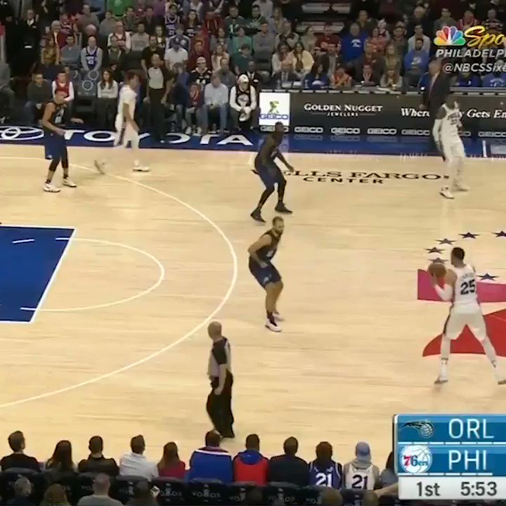 Ben Simmons hit Fournier with a merciles...
