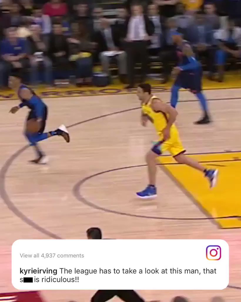 Kyrie made his thoughts on the Zaza fall clear.