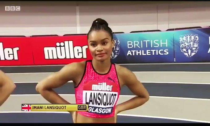 Andrew Pozzi and Imani Lansiquot compete at Glasgow Indoor athletics Grand Prix