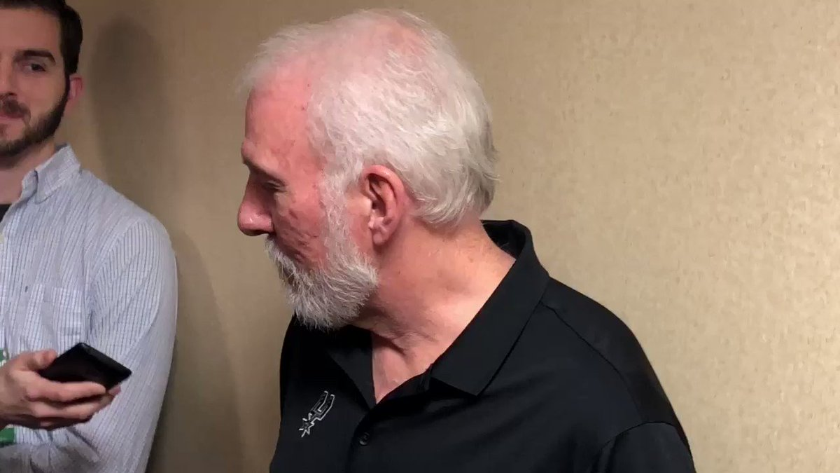 Spurs coach Gregg Popovich called Laura Ingrahams shut up and dribble comments directed at LeBron an unbelievable show of arrogance. He encouraged LeBron to continue to speak on issues and to continue to be a hero and a role model. #Cavs