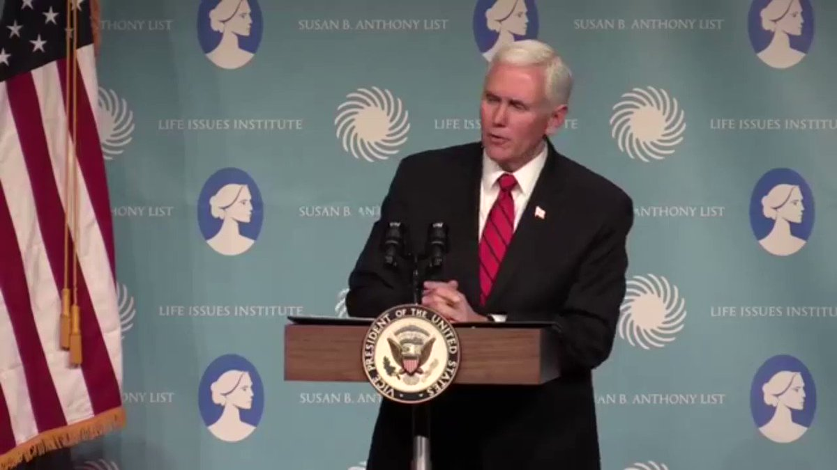 Vice President Mike Pence: Legal Abortion Will End in the U.S. 'In Our Time'